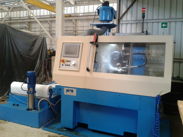 Slotted liner sharpening machine