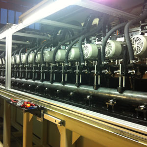 Slotted liner machine